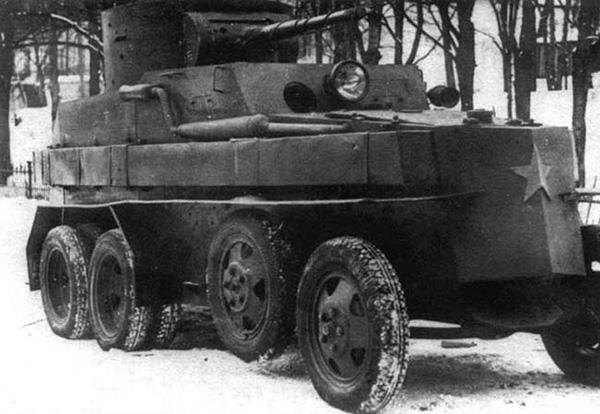Бронеавтомобиля ПБ-4. 1933 год.