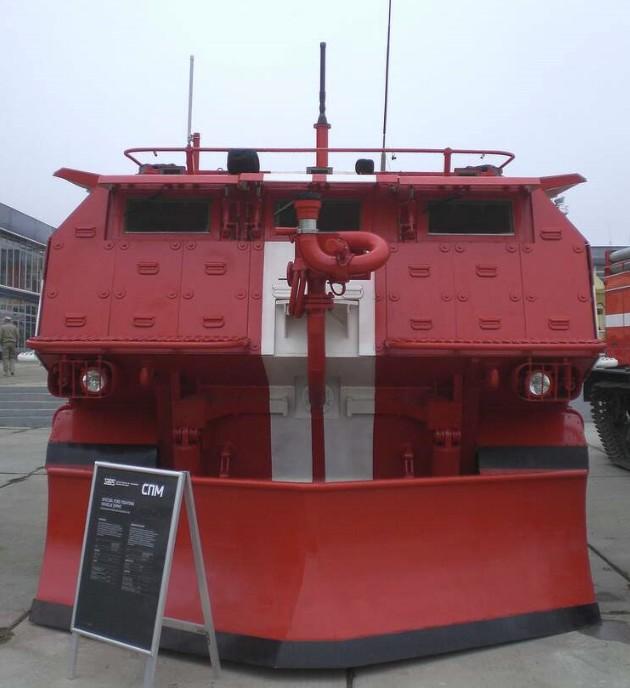 СПМ - специальная гусеничная пожарная машина