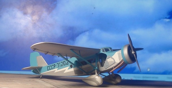 Модель самолета «Сталь-3»