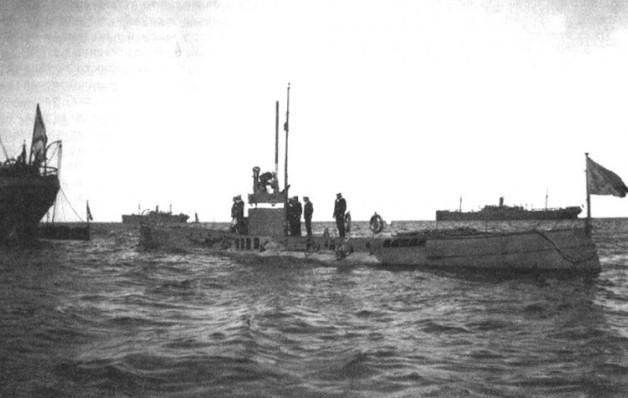 Подводная лодка 'Окунь' на испытаниях в Биорке