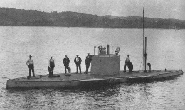 Подводная лодка 'Protector' (в будущем «Осётр») 1901—1904 год