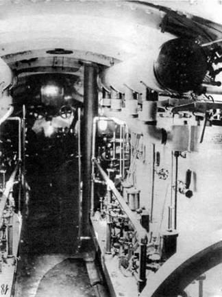 Машинное отделение подводных лодок типа «Осетр»