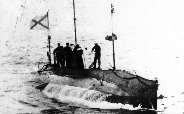 Подводная лодка «Стерлядь» типа «Сом» 1910 год.