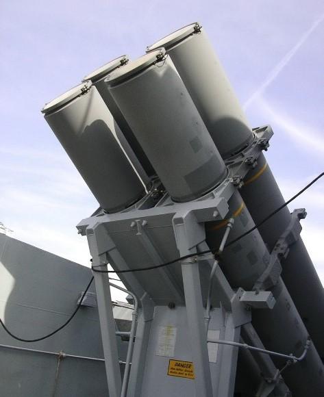 Пусковые установки ПКР 'Гарпун'. Фрегат F18 Sutherland