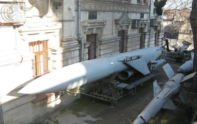 Фото ракеты П-35 (П-6) в Музее Черноморского флота в Севастополе