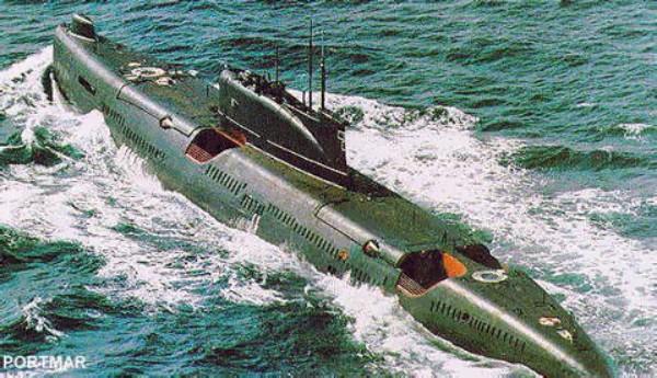 Подводная лодка К-24 пр. 651 с ракетами П-5