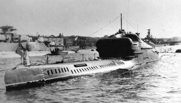Подводная лодка пр. 665 с ракетами П-5