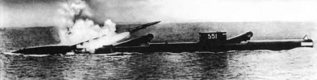 Ракета П-5 - фото пуска с подводной лодки пр. 659
