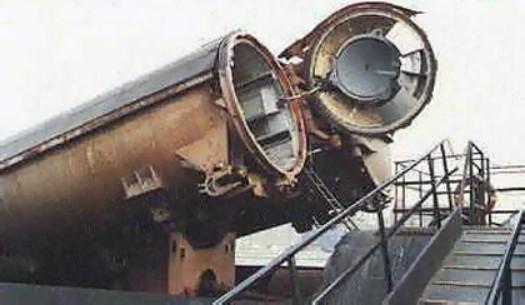 Открытый контейнер ПУ на ПЛРК пр. 651
