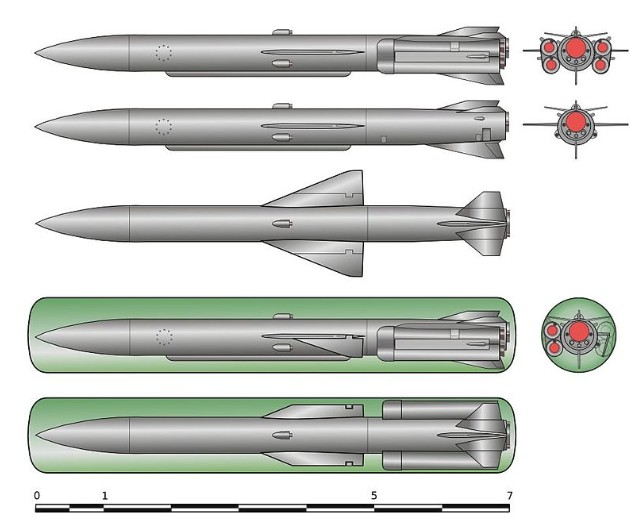 Чертеж ПКР П-70 «Аметист» и её пусковой контейнер