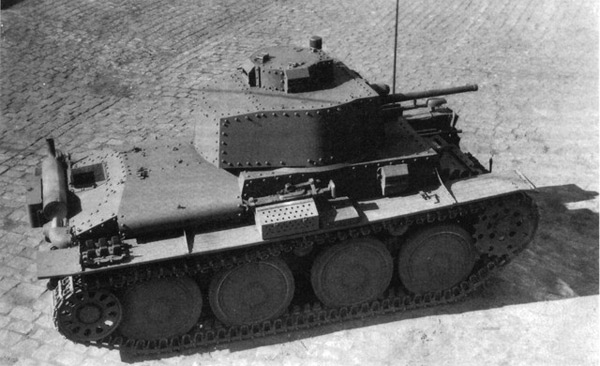 Фашисткий танк PzKpfw 38(t) производства Чехословакии