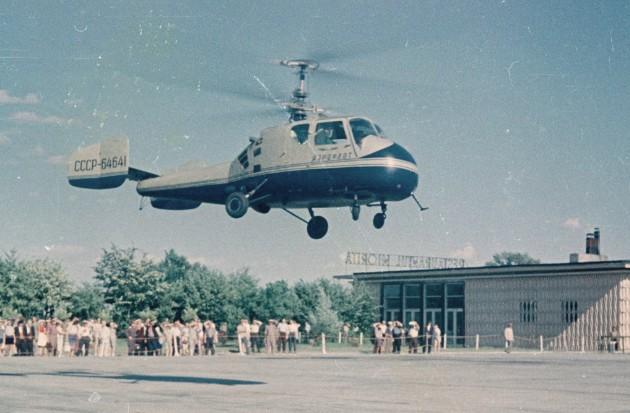 Вертолет Ка-18 - фото взлета
