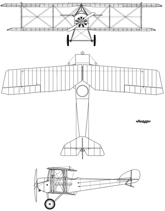 Компоновочная схема самолета 'Анаде'
