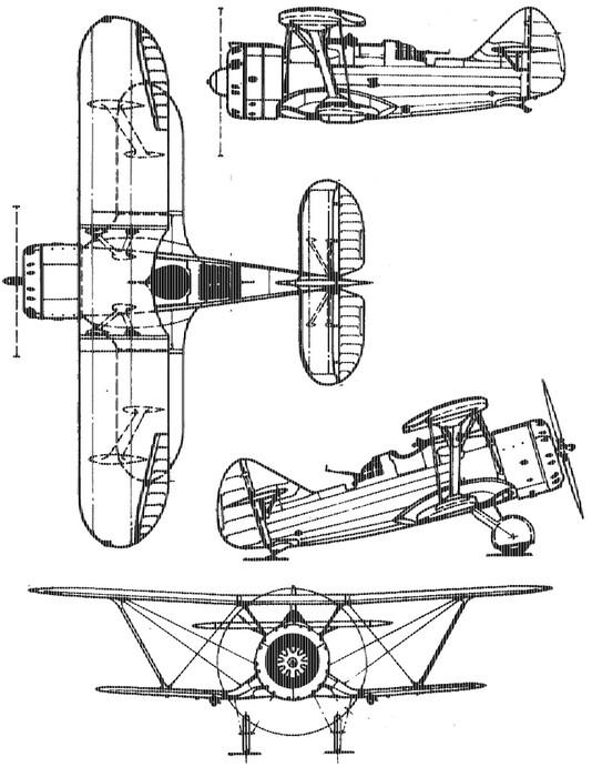 Четырехмерная схема истребителя Ди-6
