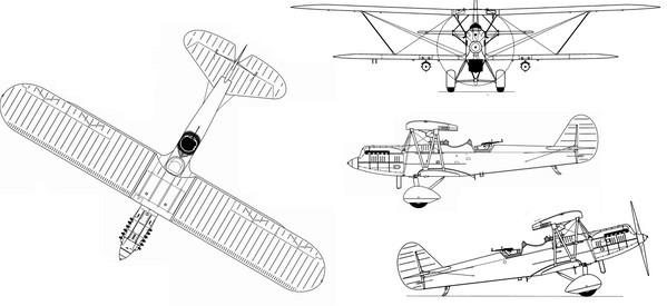 Четырехмерная схема самолета ССС (Р-5ССС)