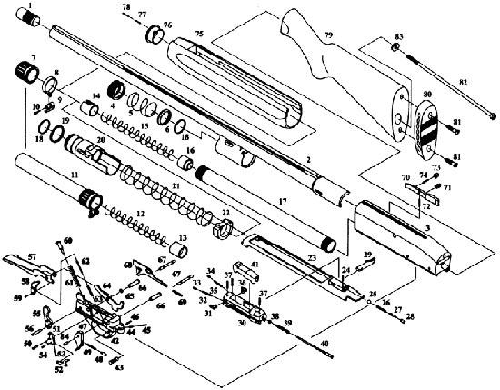 МР-153 сборочные единицы и детали
