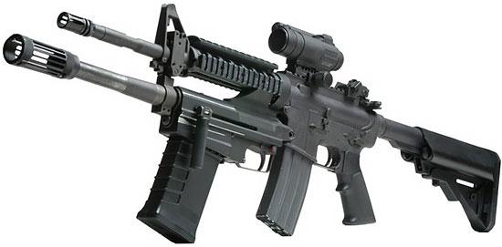M26 MASS в конфигурации Attached, установленный на карабин M4