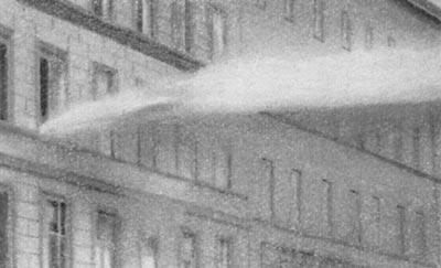 Огнеметание на узких улицах города