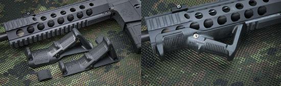 Угловые рукоятки Magpul AFG и AFG2 полюбились многим стрелкам больше, чем вертикальные. При этом AFG2 меньше и уже первой версии