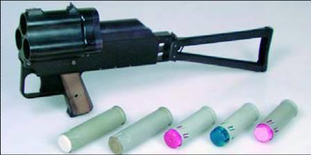 РГС-33 с используемыми боеприпасами