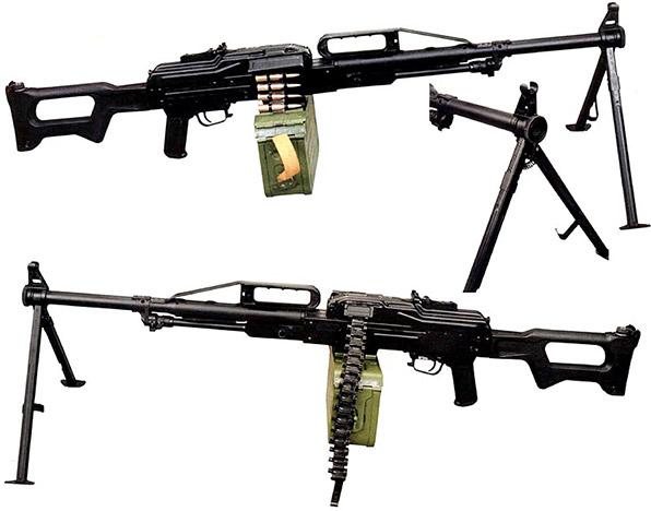 Ранняя модификация «Печенега», отличающаяся от серийного пулемета отсутствием дульного тормоза и рядом других мелочей, а также дульный срез ранней модификации пулемета «Печенег»