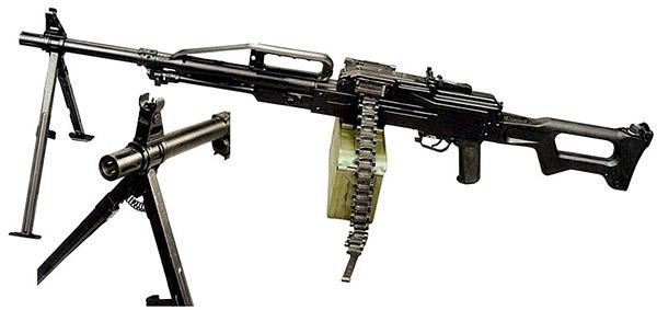 Серийный образец и дульный тормоз пулемета «Печенег»
