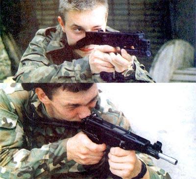 Спор о переднем и заднем шептале в современных пистолетах-пулеметах (вверху ПП-93, внизу – «Кипарис») неактуален, поскольку из этого оружия почти невозможно прицелиться