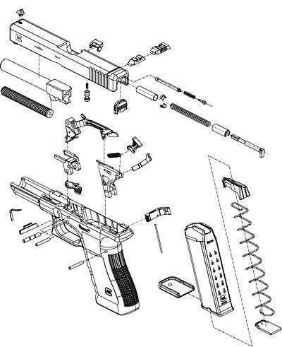 Glock 17 взрыв-схема