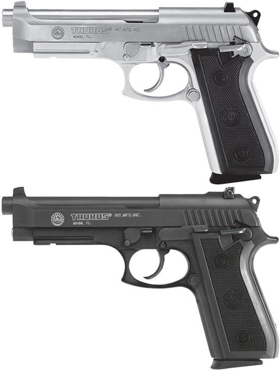 Taurus PT 100 AR (сверху) и PT 101 AR (снизу)