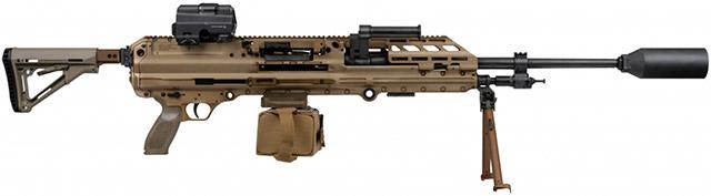 ПулемётSIG MG 338 калибра .338 Norma Mag. заметно легче многих пулеметов среднего размера и может с легкостью быть перестроен на калибр 7.62x51. (SIG Sauer)