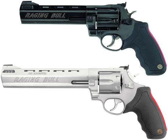 Taurus M 444 Raging Bull Model 444 B6 (сверху) Model 444 SS8 (снизу)
