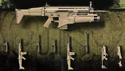 Американское отделение бельгийской компании FNH выиграло конкурс на поставку американским силам специальных операций модульной винтовки SCAR (SOF Combat Assault Rifle). Точнее, не одной винтовки, а системы, состоящей из двух винтовок (MK16 под патрон 5,56х45 мм и MK17 под 7,62х51 мм), каждая из которых может оснащаться длинным, средним и коротким стволами, а также подствольного гранатомета.
