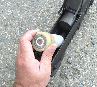 Снаряжение трубчатого магазина гранатомета ГМ-94 выстрелами