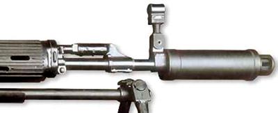 Дульное устройство СВУ-А неплохо убирает вспышку выстрела