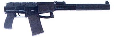 9-мм бесшумный автомат АС «Вал» со сложенным прикладом