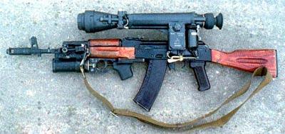 Автомат АК-74 с подствольным гранатометом ГП-25 и ночным прицелом НСПУ