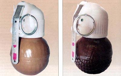 Ручные гранаты: РГН (слева) и РГО (справа)