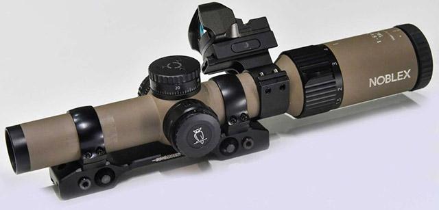 Noblex 1-6x42 был специально разработан для соревнований IPSC