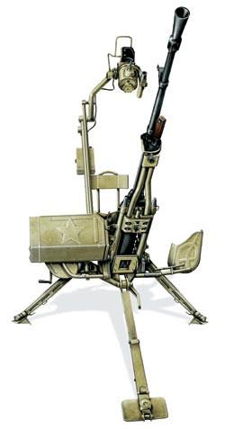 Крупнокалиберный пулемет НСВ-12,7 «утес» на универсальной установке Пурцена, СССР, 1972 г.
