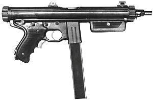 Пистолет-пулемет «Беретта». Опытная модель 10 со сложенным металлическим прикладом