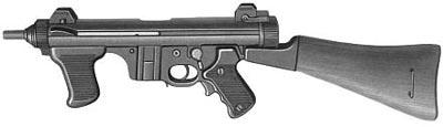 Пистолет-пулемет «Беретта» М.12S с постоянным деревянным прикладом