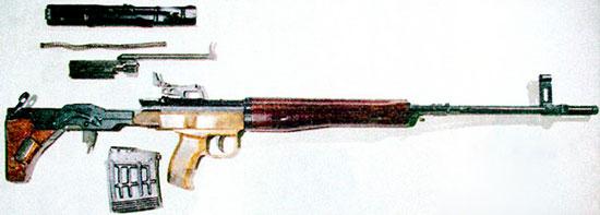 Снайперская винтовка ТКБ-0145К неполная разборка