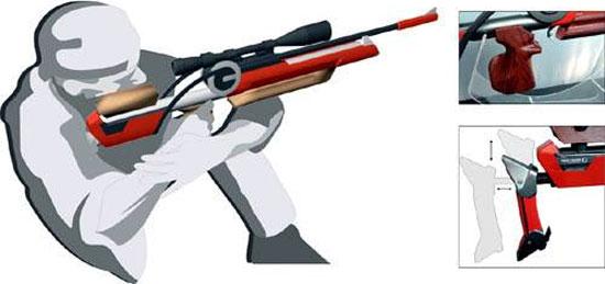 Предусмотрена масса регулировок, включая пистолетную рукоятку и затыльник приклада