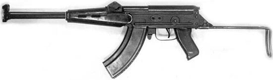 ТКБ-454-7А с телескопическим металлическим прикладом в боевом положении