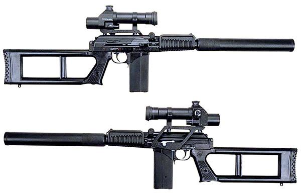 Снайперская винтовка ВСК-94 с оптическим прицелом ПКС-07 – вид справа и слева