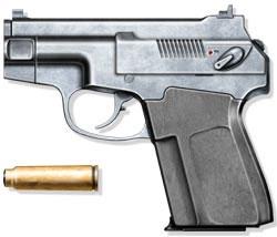 Бесшумный самозарядный пистолет ПСС с 7,62-мм патроном СП-4, СССР, 1983 г.