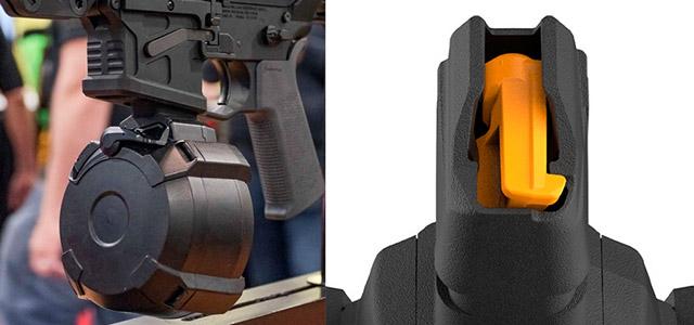 Магазин Magpul D-50 GL9-PCC предназначен для ПП/К, использующих магазины Glock 9х19