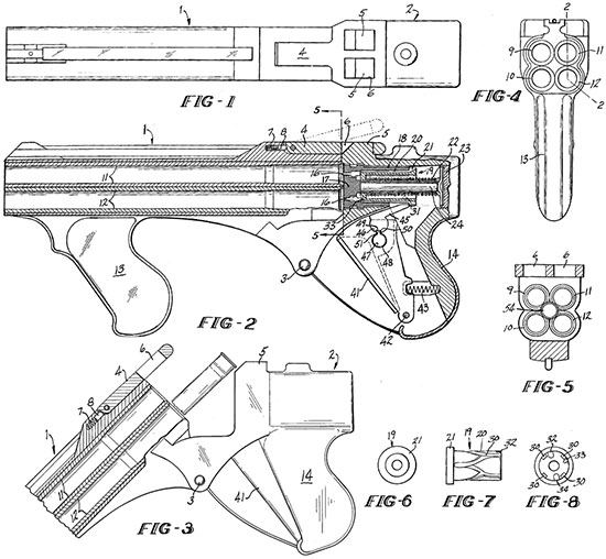 Чертежи Liberator Mark II из патента, выданного Роберту Хиллбергу