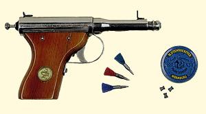 Пневматический пистолет JGA Germania #100 калибр 4,5 мм (1930 год)
