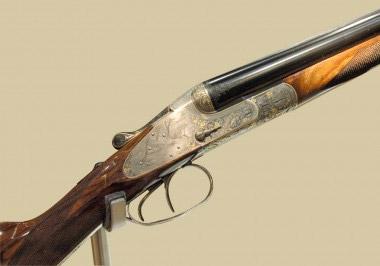 Современное ружье Sauer Meisterwerk Flinte высокого класса, декорированное гравировкой в стиле «булино»